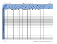 Migraine Log and Diagram for patients